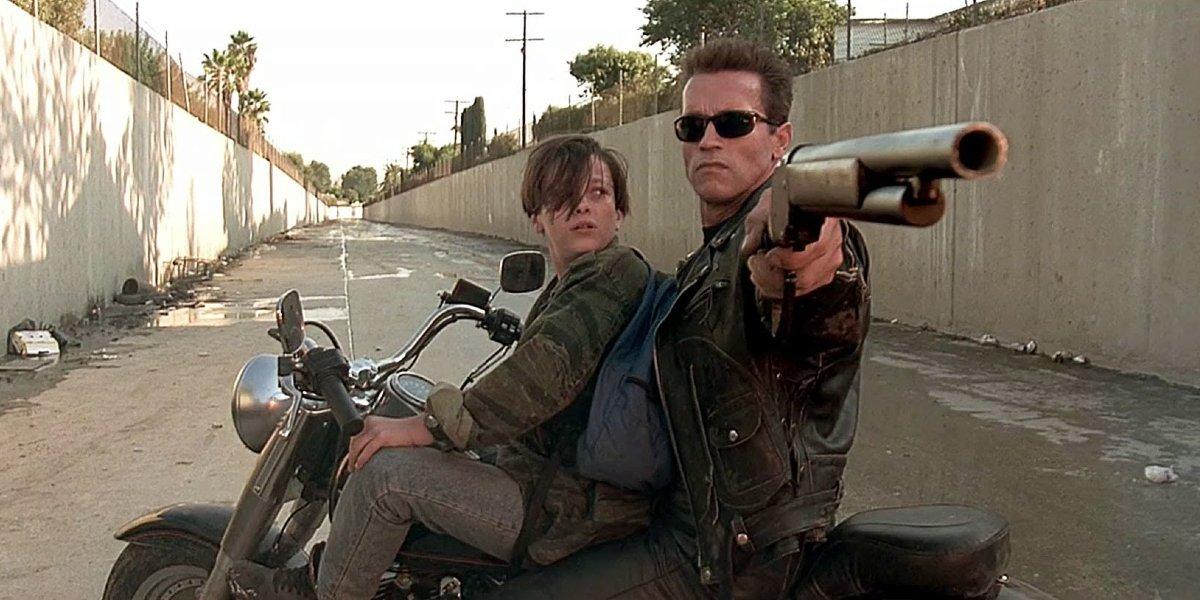 Edward Furlong and Arnold Schwarzenegger in Terminator 2: Judgment Day