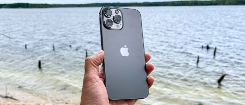 iPhone 13 Pro Max viewed from the back