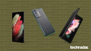 A selection of the best Samsung phones including Samsung Galaxy S21 Ultra, Samsung Galaxy S21 and Samsung Galaxy Z Fold 3