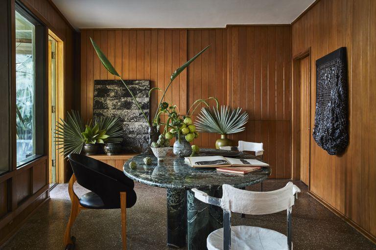 Dining room in Kelly Wearstler house