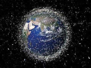 Space debris around the Earth