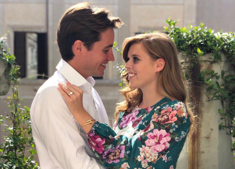 Princess Beatrice engagement floral dress