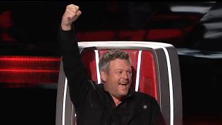 Screenshot of Blake Shelton on The Voice