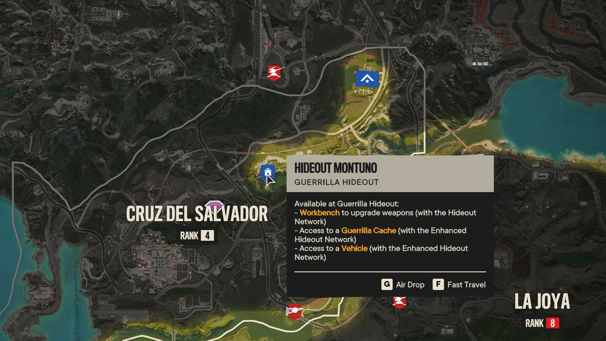 Buzzer location on Far Cry 6 map