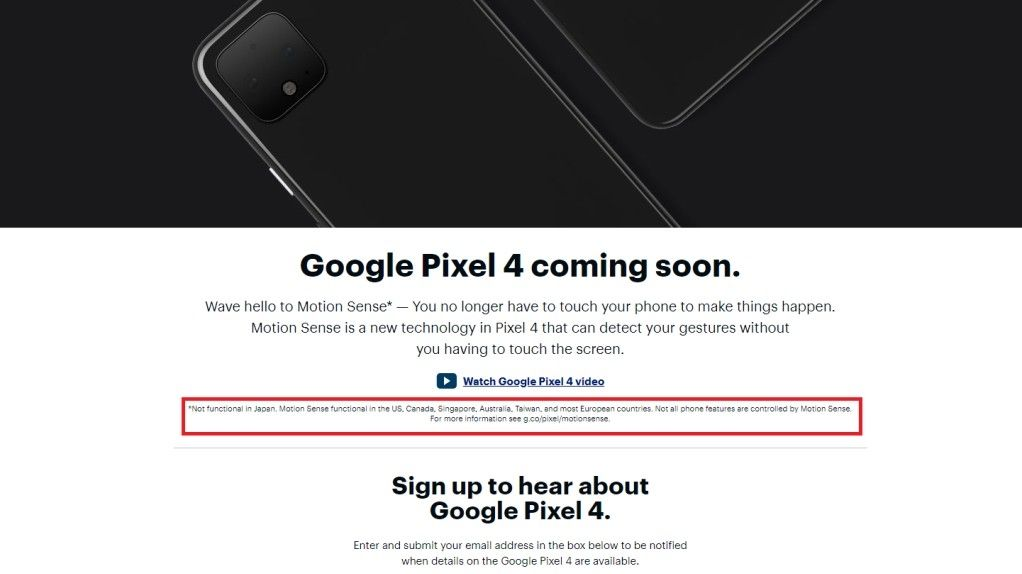 Google Pixel 4 listing points to four upcoming smartphones