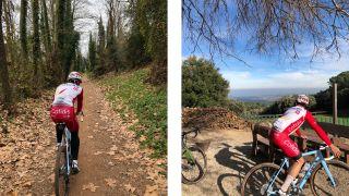 Nathan Haas Gravel riding in Girona