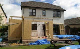 Construction work on self build home