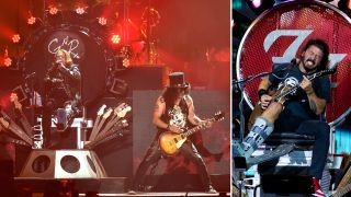 "Axl Rose borrowed Dave Grohl's ""throne"" after breaking his foot"