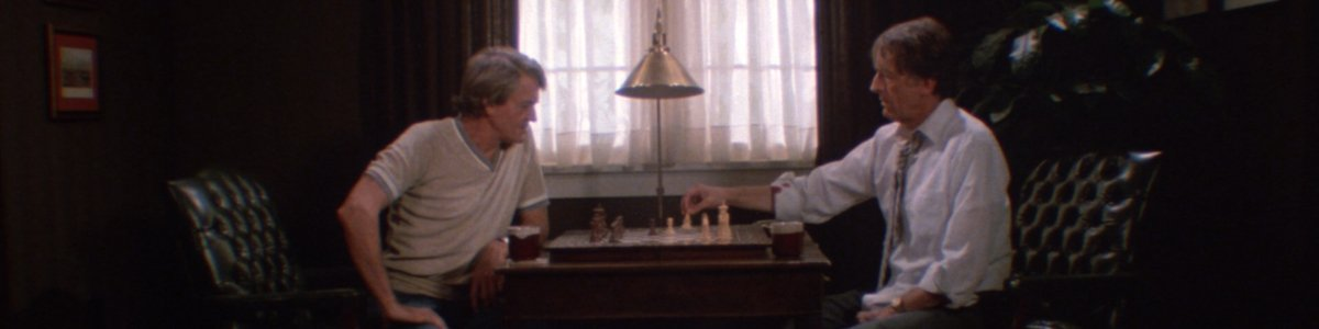 The Crate professors play chess in Creepshow