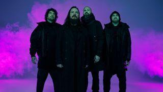 Twelve Foot Ninja group shot against a purple backdrop