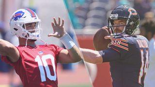 Bills vs bears live stream NFL— Mitchell Trubisky of Buffalo Bills and Andy Dalton of Chicago Bears