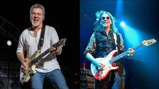 Eddie Van Halen and Steve Vai
