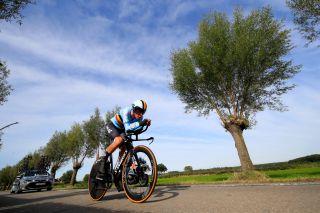 2021 UCI World Championships - Flanders - Men Junior Time Trial - Knokke Heist - Bruges 23,3 km - 21/09/2021 - Clan Uijtdebroeks (Belgium) - photo Luca Bettini/BettiniPhoto©2021