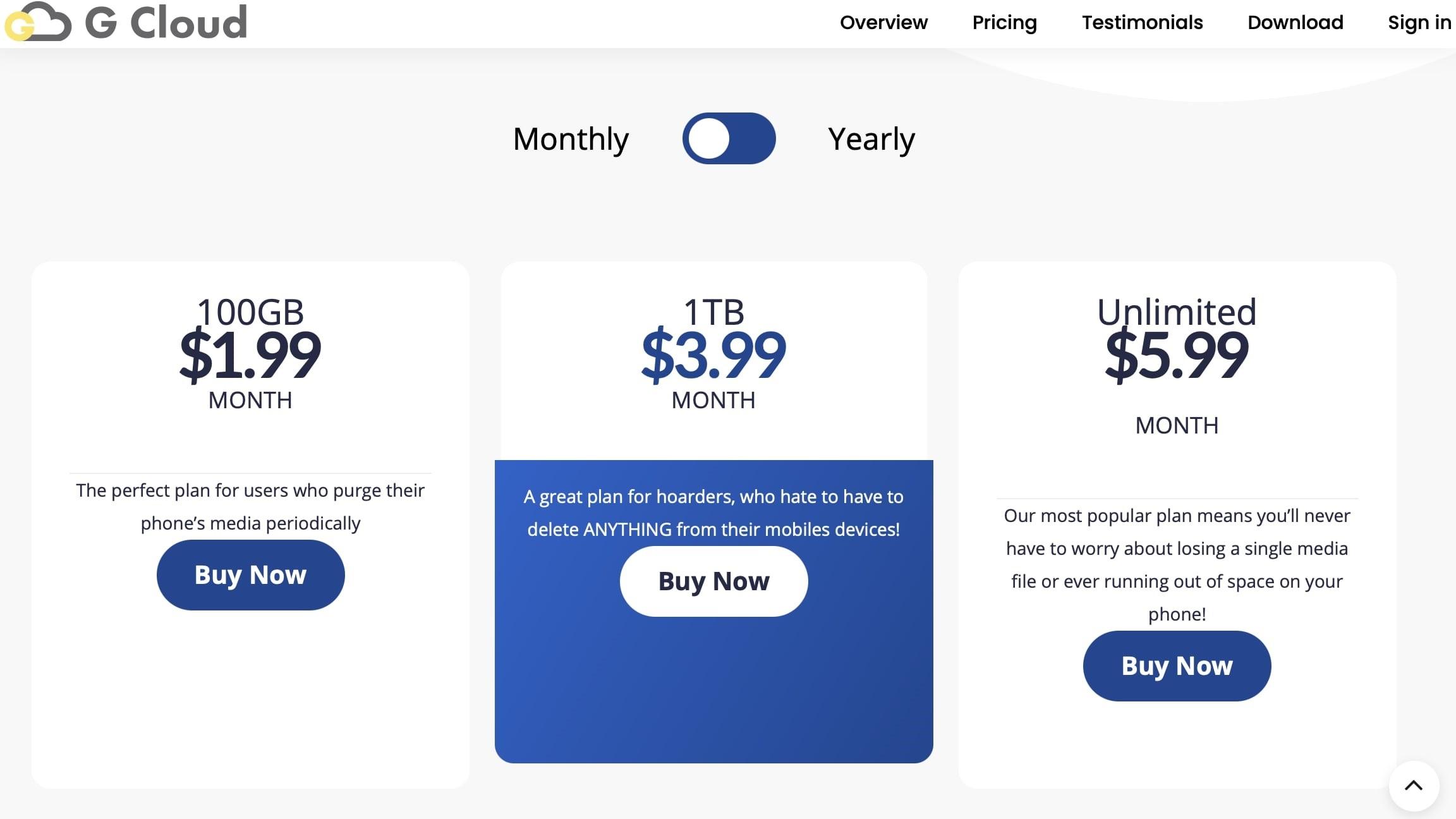 G Cloud Pricing