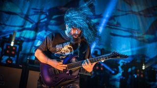 Deftones' Stephen Carpenter performs live.
