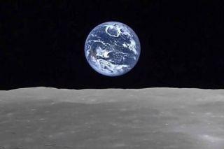 arthrise from moon, as seen by JAXA probe.