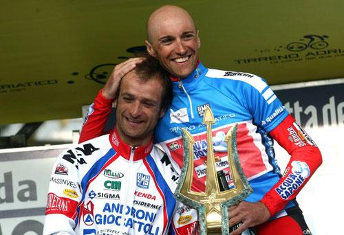 Stefano Garzelli and Michele Scarponi, Tirreno-Adriatico 2010, stage seven