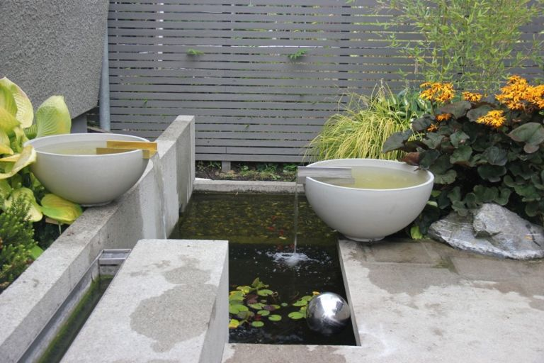garden water feature ideas: Solus Decor Water Bowl Scupper