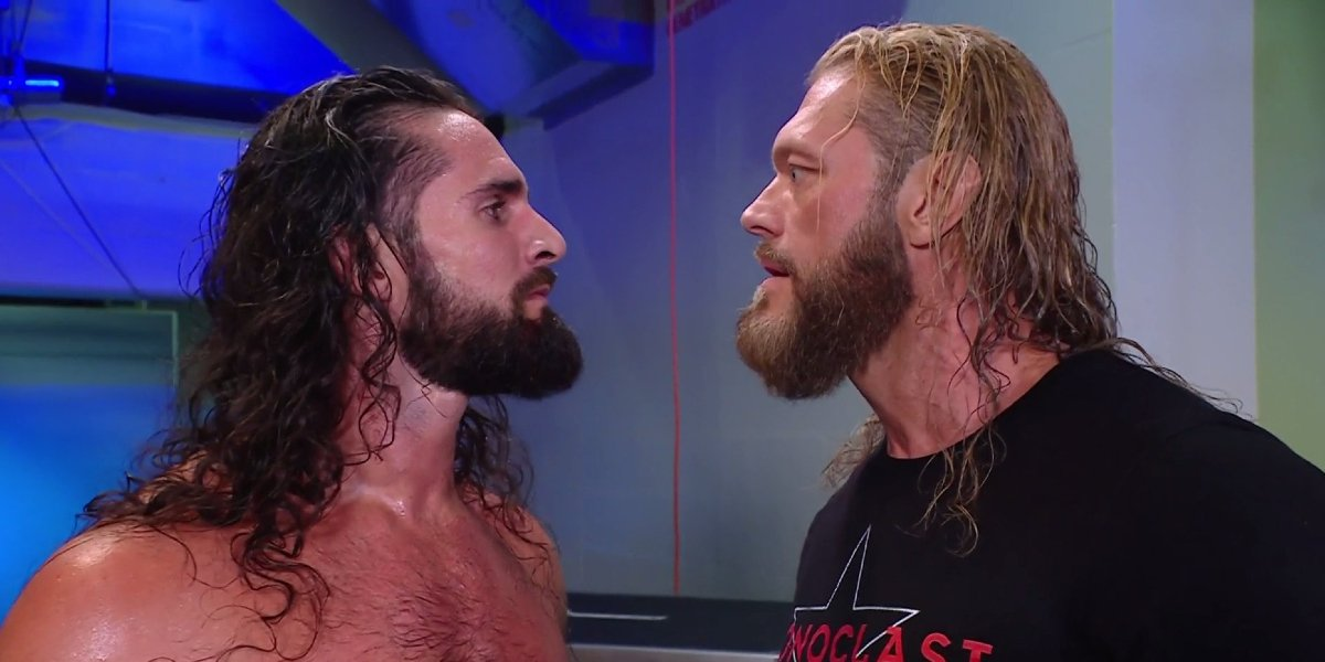 Seth Rollins and Edge on SmackDown