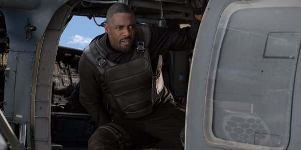 Idris Elba and Brixton Lorr in Hobbs and Shaw