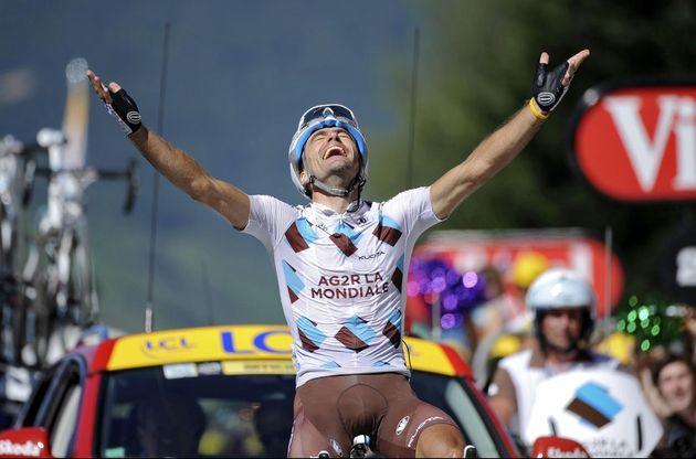 Christophe Riblon wins, Tour de France 2010, stage 14