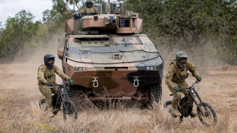 Australian Army e-bikes