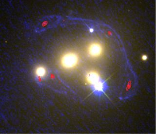 Four Abell 3827 galaxies