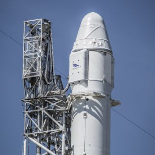 A file photo of a SpaceX Dragon spacecraft atop its Falcon 9 rocket ahead of a launch to the International Space Station from Space Launch Complex 40 at the Cape Canaveral Air Force Station in Florida. SpaceX will launch its next Dragon mission for NASA o
