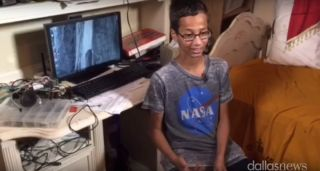 Ahmed Mohamed Interviewed in NASA T-Shirt