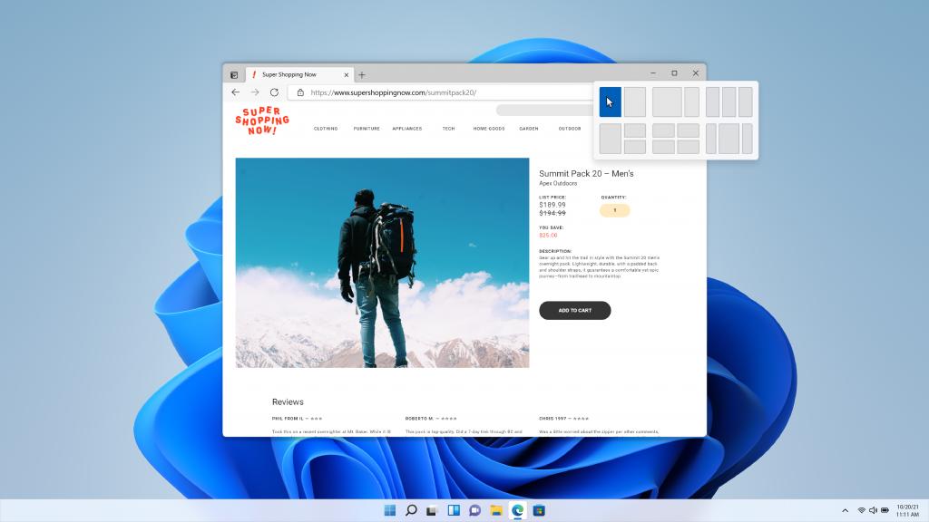 Windows 11 Snap Layouts