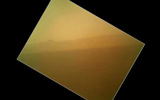 Curiosity's First Color Image of the Martian Landscape