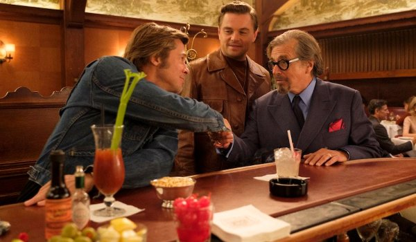 Once Upon A Time In Hollywood Rick and Cliff meet Marvin Schwarzs at the bar