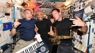 It's been a wild night aboard the International Space Station as the crew of eleven astronauts celebrated the 45th birthday of NASA's spaceman Victor Glover. But who did the cleaning up afterwards?