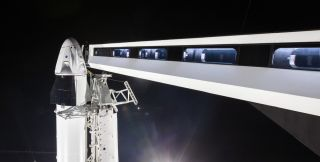 Behold! SpaceX's 1st Crew Dragon Spaceship Is On the