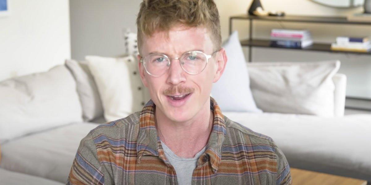 Tyler Oakley's newer mustache in 2020