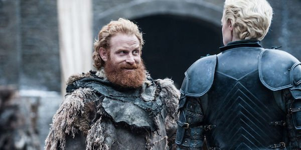 Tormund making the moves on Brienne in Winterfell