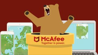 TunnelBear and McAfee logos