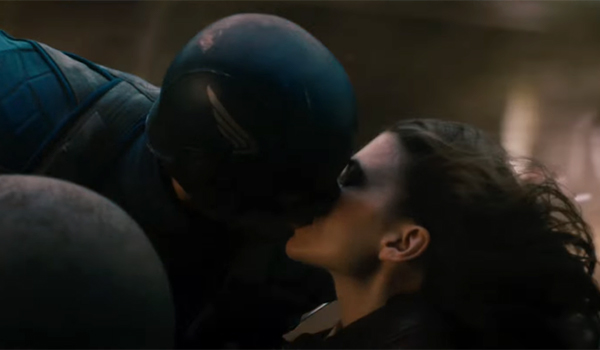 Cap kissing Peggy Carter