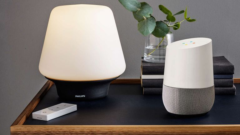 Smart audio in the form of a Google Home smart speaker