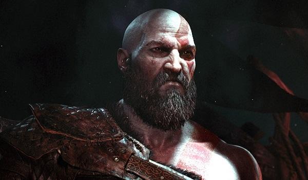 Kratos glaring in god of war