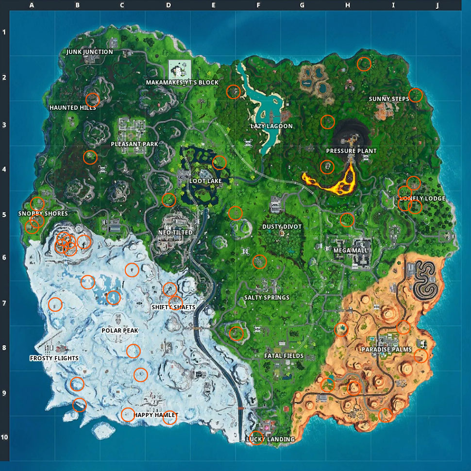Fortnite Campfire locations: Where to find all of the