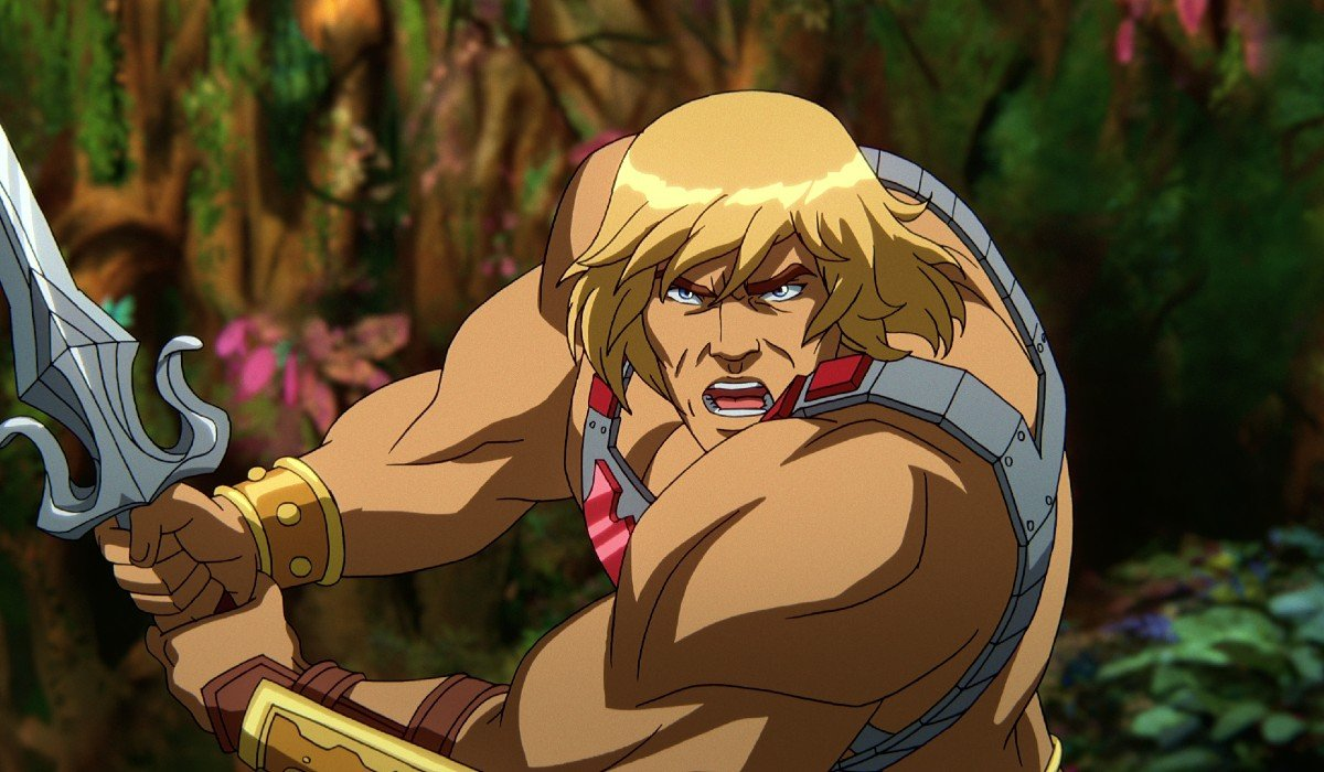 He-Man about to slice somebody with a sword Netflix