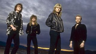 A shot of Def Leppard in the 90s