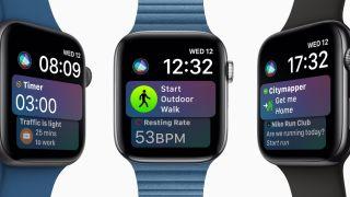 Kolme Apple Watch 4:ää