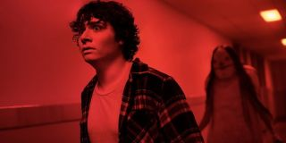Austin Zajur and The Pale Lady in Scary Stories To Tell In the Dark