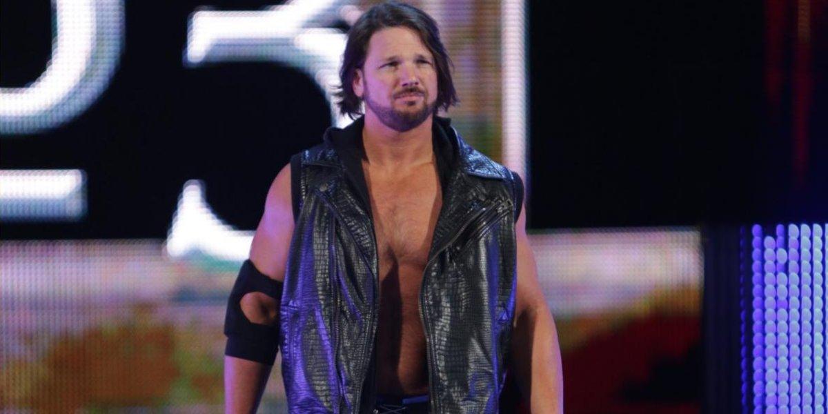 AJ Styles at the Royal Rumble
