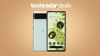 Google Pixel 6 on creme background