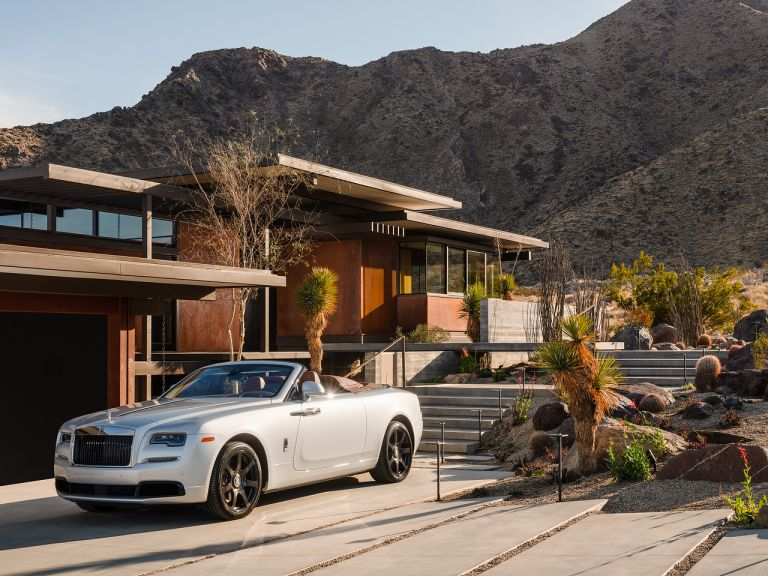 Ray Kappe house exterior with Rolls Royce
