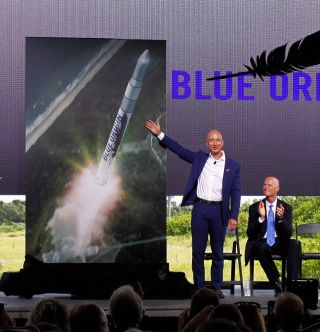 Jeff Bezos at Blue Origin Unveiling