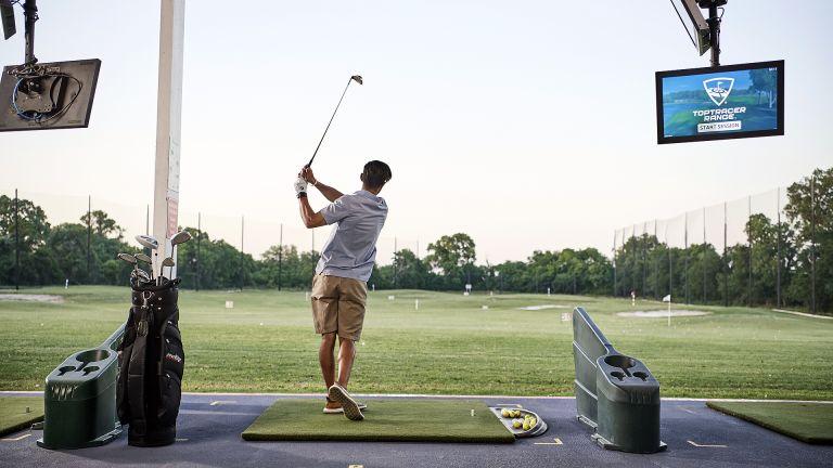 Toptracer driving range golf simulator